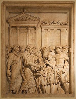Emperor Marcus Aurelius (161-180 AD) and membe...