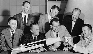 "The ""Mercury Seven"" astronauts pose ..."