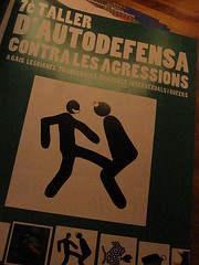 """self-defence workshop"" poster @ Bar..."