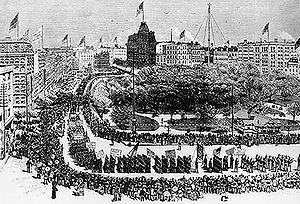 Labor Day Parade, Union Square, New York, 1882...