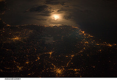 City Lights, France-Italy Border (NASA, Intern...