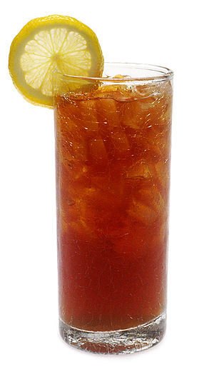 Iced tea, popular throughout the U.S.