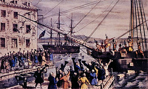 """The Destruction of Tea at Boston Harbor&..."