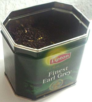 A tin of loose Earl Grey tea