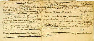 English: The earliest known draft of the Unite...