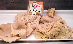 English: Tripe in an Italian market. Some tast...